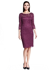 Autograph Floral Lace Pencil Dress