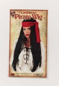 Long Pirate Wig Costume Accessory