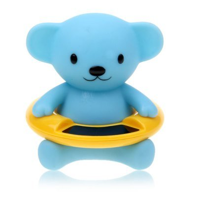 Cute Cartoon Bear Waterproof Baby Bath Floating Thermometer (Blue)