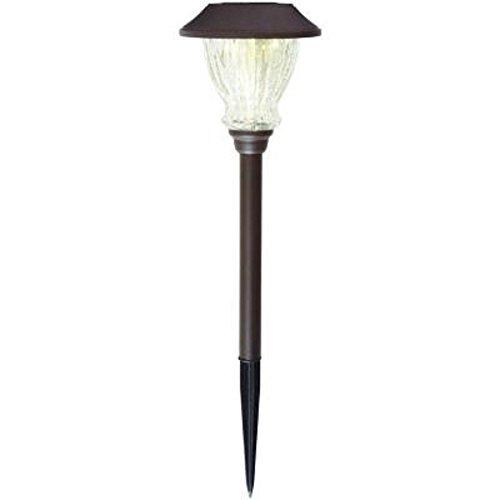 Hampton Bay Solar Bronze LED Crackle Glass Solar Outdoor Pathway Light (6-Pack) (Hampton Bay Lighting Outdoor compare prices)