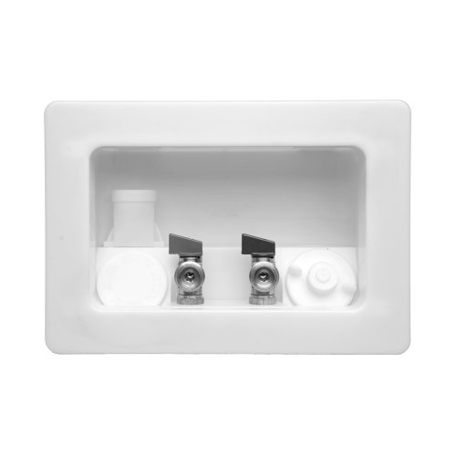 Lsp Ob-2071-C Assembled Kahuna Outlet Box With Viega Valves And Condensate, White