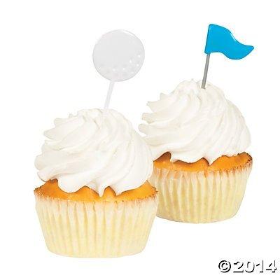 Golf Party Food Cupcake Picks - 25 pcs - 1