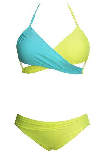 O&W Women's Sexy Body Wrap Halter Neck Bikini