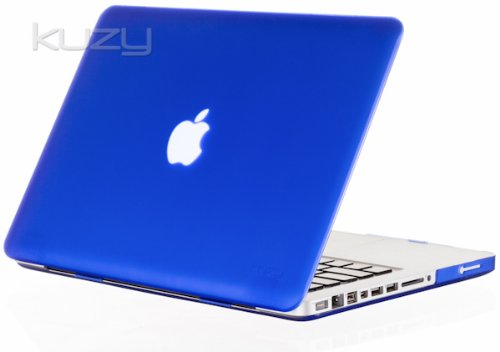 $$  Kuzy - BLUE Rubberized 13-inch Hard Case Cover See Thru for MacBook Pro 13.3
