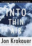 Into Thin Air 1st (first) edition Text Only