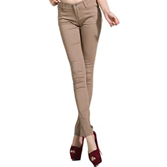 Hee Grand Women Hot Skinny Jeans XS Khaki
