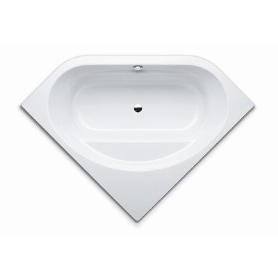 Vaio Duo 3 55.1&#8243; x 55.1&#8243; Bath Tub with Molded Surround in White