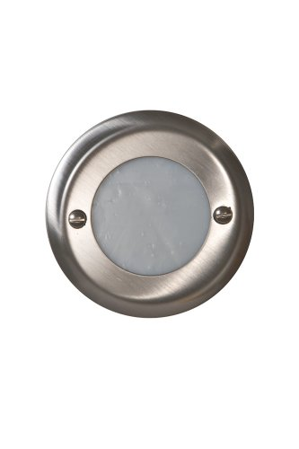 12 volt recessed outdoor deck and step light fixture brushed