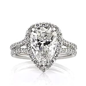 Mark Broumand 4.66ct Pear Shaped Diamond Engagement Anniversary Ring by Mark Broumand