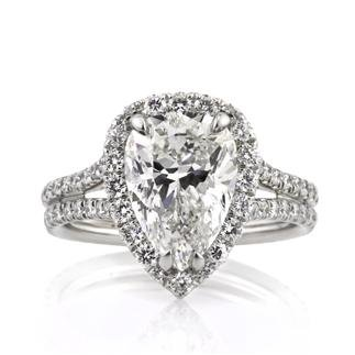 4.66ct Pear Shape Diamond Engagement Anniversary Ring