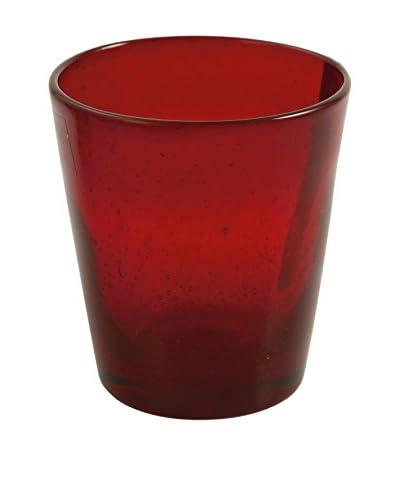 VILLA D'ESTE Set Vaso 6 Uds. Cancun Rojo