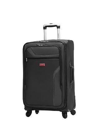 IZOD Luggage Journey 3.0 28-Inch 4-Wheel Expandable Upright, Black, One Size