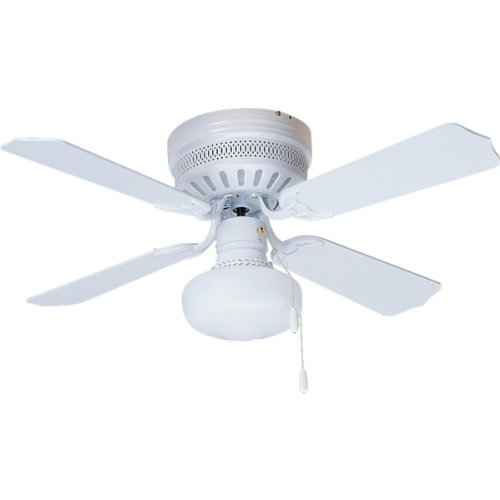 42 Four Blade Hugger Mount Ceiling Fan Case Of 10 White With 9 White Schoolhouse Light Kit Marni L Reillyiop