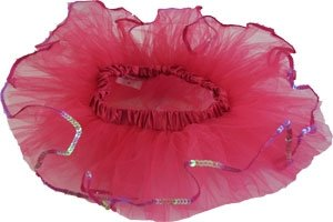 Hot Pink Sequin Tiny Dancer Tutu Ballet Dance Fairy Princess Costume Accessory