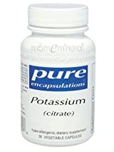 Potassium (citrate) 180 Vegetarian Capsules by Pure Encapsulations