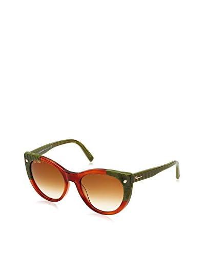 D Squared Sonnenbrille DQ018055 (55 mm) ziegelrot/grün