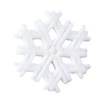 Snowflake Winter Christmas Sugar Decorations Cookie Cupcake Cake 12 Count
