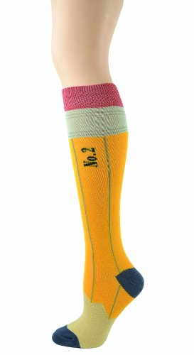Foot Traffic Women's Pencil Knee High Yellow/Black