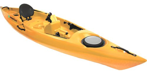 Kayaks emotion mojo angler kayak mustard for Emotion fishing kayak