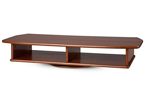 TV/DVD Swivel Stand - Wide - CHERRY WALNUT Color (Turntable With Wood Base compare prices)