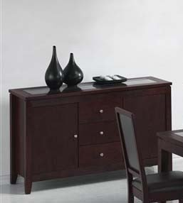 Cheap Server Sideboard Cappuccino Finish (VF_AM8153)