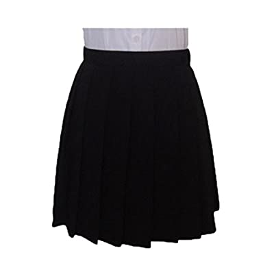 Fashion Japanese Cosplay Pleated High Waist Student Uniforms Solid Color Skirts Jupes