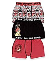 3 Pack Cotton Rich Angry Birds&#8482; Trunks