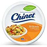 Chinet Classic White Large Bowls, 30-Count Packages  (Pack of 6)