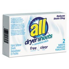 ALL FREE CLEAR DRYER SHEETS FOR SENSITIVE SKIN HYPOALLERGENIC