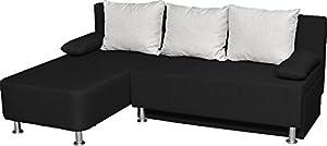 VCM 900063 Ecksofa Magota Couch mit Schlaffunktion, schwarz  Kundenbewertung: