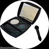 'Black Pearl' Black & White Eyeshadow Duo In Compact + Mirror & Applicator Avon