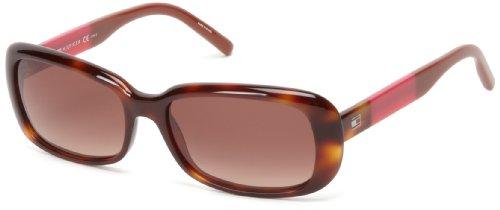 Tommy Hilfiger TH1158S Rectangular Sunglasses,Havana,56 mm
