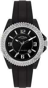 Rotary Ceramique - CEBRS/19/B - Montre Mixte - Quartz Analogique - Bracelet Caoutchouc Noir