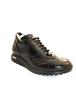 Mauri Men's Sneakers 8932 Black Alligator size 9