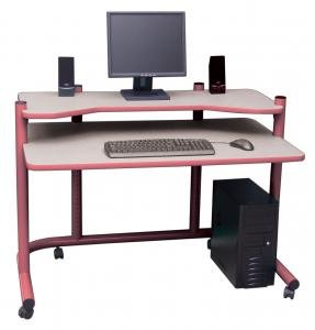 Buy Low Price Comfortable Computer Workstation in Mauve and Grey by Studio Designs (B005D4ZJIG)