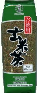 Ujinotsuyu Japanese Loose Brown Rice Green Tea - Twin Packs - 2x 14.01 Oz - Genmai Cha (Genmaicha)