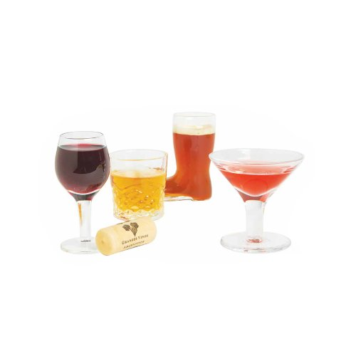 Dci mini cocktails shot glasses set of 4 for Names of mix drinks