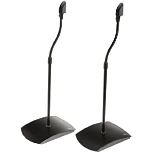 Amazon - AmazonBasics Satellite Speaker Stands (Pair) - $10