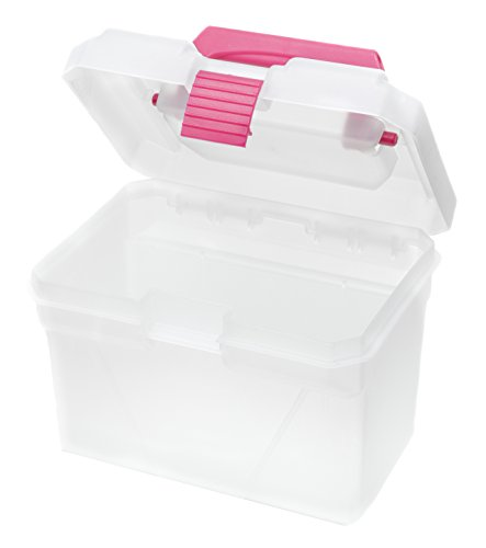 Creative Options Mini Toolbox with Handle and Latch, Natural/Magenta (Toolbox Creative compare prices)