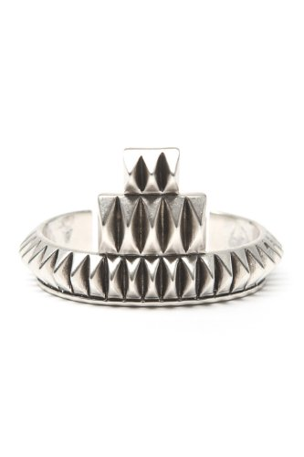 House of Harlow - Pyramid Bar Cuff (Silver)