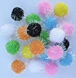 10pc Assorted Color Pom Pom Balls My Cat's All Time Favorite Toy – See Video Below
