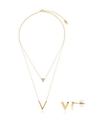 Petros Mykonos Conjunto de collar y pendientes Viki