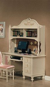 Buy Low Price Comfortable Computer Desk with Hutch White Finish (B002N9YSQS)