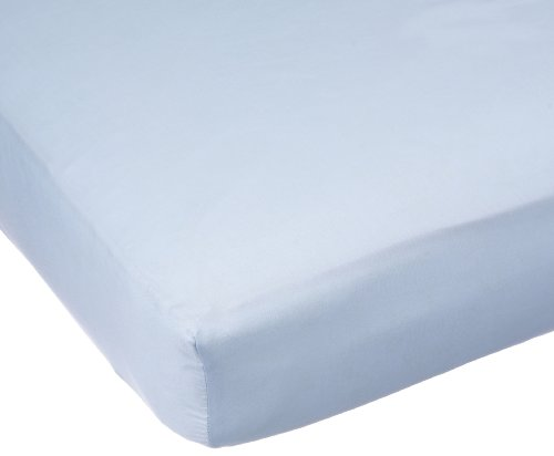 Carters Easy Fit Sateen Crib Fitted Sheet, Blue (Discontinued by Manufacturer)
