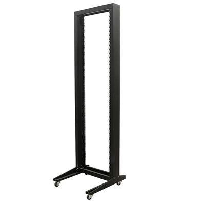 StarTech.com 42U 2 Post Open Frame Rack with Casters 2POSTRACK (Black)