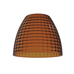 Jesco Lighting AP06S01AM Pressed Glass Refractor for 6-Inch Aperture Pendant or Wall Sconce, Amber