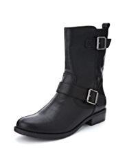 M&S Collection Double Strap Biker Boots