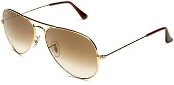 Ray-Ban Herren RB3025 Aviator Sonnenbrille, Gold