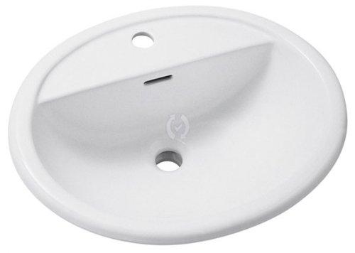 Keramag icon handwaschbecken weiss mit hahnloch rechts for Keramikspülbecken