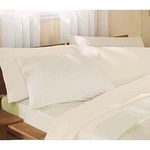 bettlaken mit volant einzelbett elfenbein. Black Bedroom Furniture Sets. Home Design Ideas